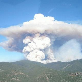 The Tripod fire ignites the hills East of my home (2006).